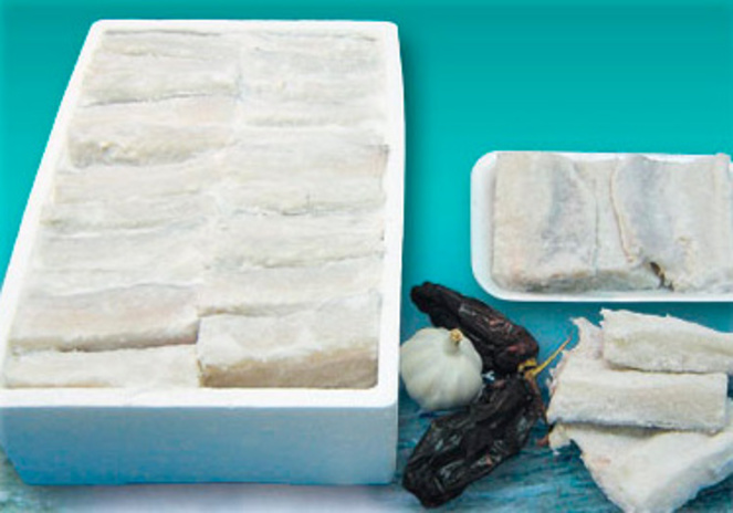 Salted cod - Top quality steak